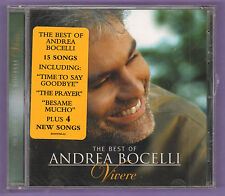 The Best of Andrea Bocelli Vivere Music CD 2007 Decca B0009988-02 New/Sealed
