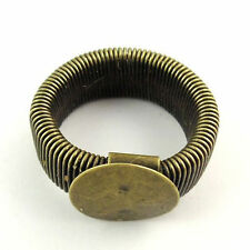 30167 Antiqued Bronze Alloy flexible ring base stud jewelry findings 10pcs