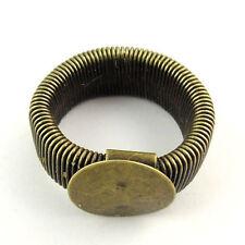 Toutes les plaques Sterling Silver Ring base pour collage 1088 Chaton 6 mm cristaux