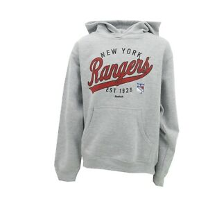 New York Rangers Official NHL Reebok Kids Youth Girls Size Hooded Sweatshirt New