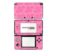 Vinyl Skin Decal Cover for Nintendo 3DS - Pink Hearts