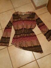 Zipfel Bluse Shirt  Tunika Gr. L 44/46 edel festlich