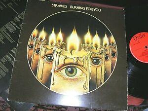 THE STRAWBS -    Burning For You,     ORIGINAL 1977 UK LP / inner... DECENT COPY