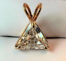Nwot Swarovski Triangle Crystal Set in Gold Tone Pendant