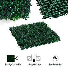 "Artificial Boxwood Hedge Mat Plant Panels Greenery Walls Outdoor 12PCS 9.8""X9.8"""