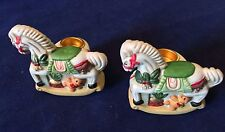 """Pair of Nobel Ball Hall Mini Horse Candle Holders 2 1/2"""" x 2 1/4"""""""
