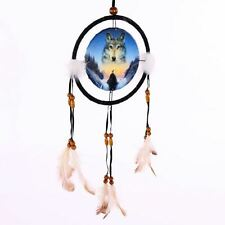 Cosmic Wolf Dream Catcher Small American Indian Feathers Dreamcatcher