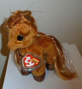 """Ty Beanie Boos - GLITTER the Horse Pony 6"""" (2019 Cracker Barrel Exclusive) NEW"""