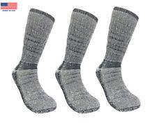 3 Pairs 71% Merino Wool Men's Expedition Crew Heavyweight Thick Hiking Socks