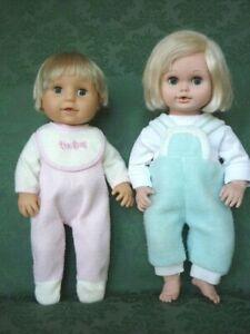 Vintage Vinyl Baby Doll Pair Playmates, Licensing International Tiny Tears Dolls