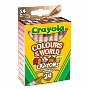 Crayola - 24 Colours of the World Crayons - Pack of 24 Wax Crayons