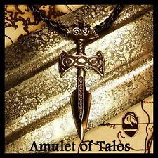 Skyrim Amulet of Talos Bronze Medallion Pendant Handmade Fan Art