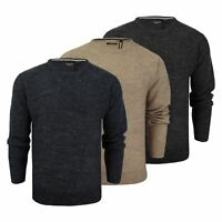 Mens Jumper Brave Soul Bayard Wool Mix Crew Neck Knitted Sweater