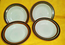 "Set of 4 Arabia Finland Karelia Rimmed Bowl 6.5"" Cereal Oatmeal EUC #2 mark"