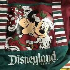 New Christmas Holiday 2015 Disneyland Resort Canvas Hobo Tote Bag Shoulder Purse