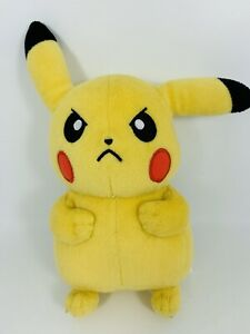 Tomy Pokemon Pikachu Angry Mad Face Plush