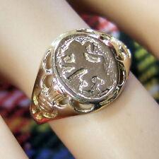 9 ct GOLD  new ladies scottish rampant lion ring