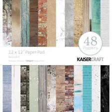 Basecoat 4 Collection 12x12 Scrapbooking Paper Pad 48 SH Kaisercraft PP242