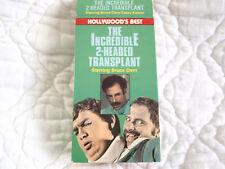 THE INCREDIBLE 2 TWO-HEADED TRANSPLANT VHS 70'S HORROR BRUCE DERN CASEY KASEM