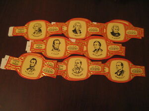 Cigar Bands The Reformation Snuff Of Canarias. Presidents USA Unidos. Full 28V
