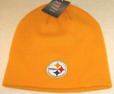 NFL Pittsburgh Steelers Yellow One Size Fits All Uncuffed Knit Hat By Reebok