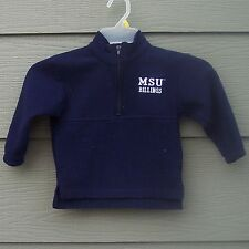 Montana State University Billings Boys Sz 3 Fleece Top Zip Sweater MSUB MSU