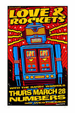 Love & Rockets 1996 Original Silkscreen Concert Poster Uncle Charlie Art S/N