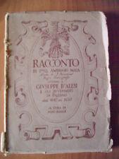 Nino Basile RACCONTO DI F. AMBROGIO MAIA INTORNO A GIUSEPPE D'ALESI Travi 1931