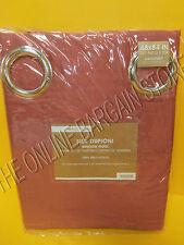 Pottery Barn West Elm Silk Dupioni Grommet Drapes Panels Curtains Espresso 48x84