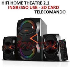 HIFI A302 RADIO HOME THEATRE ALTOPARLANTI CASSE ACUSTICHE STEREO USB SD COMPUTER
