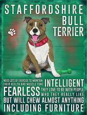 Staffordshire Bull Terrier dog .., Colourful Metal 20cm x 15cm Sign,