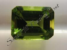Natural 9x7 Loose Emerald Cut 2.53ct Peridot AAA