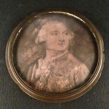 Miniature Historique XVIIIe Portrait Monseigneur Duc d'Orléans 18th Duke Gravure