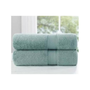 Loom Naturals 30% Viscose Bamboo 70% Cotton 4Piece Bath Towel set-Seafoam Green