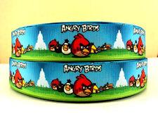1 mètre Angry Birds Cercles Ruban 7//8 Noeuds Bandeaux Pinces à Cheveux Gâteau d/'anniversaire
