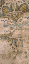 "Portfolio Textiles Fabric Linen 3 1/2 Yds 128""×54"" Exotic Moroccan Blue Tan Gold"