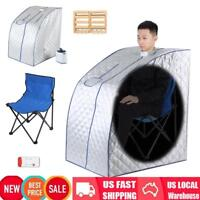 Portable Steam Sauna Room Spa Full Body Slim Weight Loss Detox Therapy Sauna 2L
