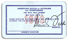 Milton Berle American Guild of Authors & Composers Card