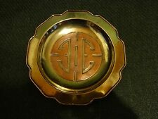 Woco Vintage Rare Brass & Copper Metal Tray, Made In Hong Kong By Woco