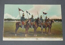 CPA L.L. CARTE POSTALE 1910-1914 MILITARIA ARMEE FRANCAISE DRAGONS LES FANIONS