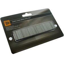 JCB 25mm long brad nails x 500 for air nail guns / brads cartridges (1 pack)