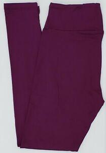 OS LuLaRoe One Size Leggings Beautiful Solid Violet Purple NWT 79