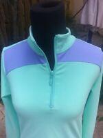 Jrs LARGE TURTLES & TEES Long Sleeve Golf Top Tennis Top Pastel Low SHIPPING!