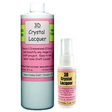 COMBO PACK - 3D CRYSTAL LACQUER 18 OZ & 2 OZ BOTTLE - Craft Adhesive Glue Glaze