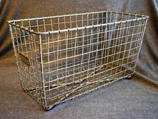 Vintage Lyon Locker Room Storage Basket