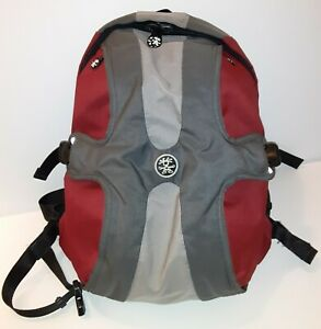 Crumpler The King Single Laptop Backpack (Dark Red with Gun Metal and Grey)