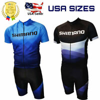 Shimano Cycling Clothing Bicycle Jersey Short Sleeve Bike Tops Shorts Padded