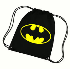 BATMAN DRAW STRING PE BAG,GYM BAG,SCHOOL BAG, WATER RESISTANT