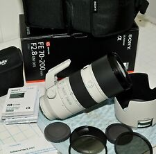 Sony FE 70-200mm f2.8 GM OSS Lens: Very New & Tested. Original Box & New Filters