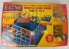 ECW RARE!! Wrestling Ring Set With Rob Van Dam And Sabu Toys R Us Exclusive WWE